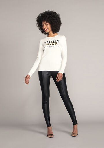 Blusa Malha MVS Thirty Plus, BRANCO OFF WHITE, large.