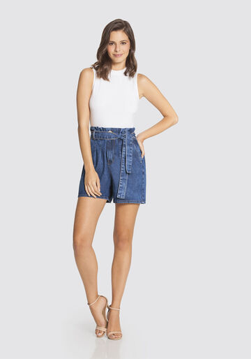Shorts Clochard, JEANS ESCURO, large.