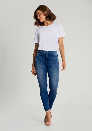 Calça Jeans Skinny Segunda Pele, JEANS, large.