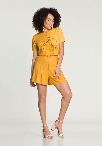 T-Shirt Traços Malha Viscose, AMARELO LIMELIGHT, large.