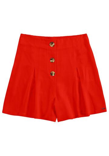 Shorts  em Tecido Rayon, VERMELHO FOREVER, large.