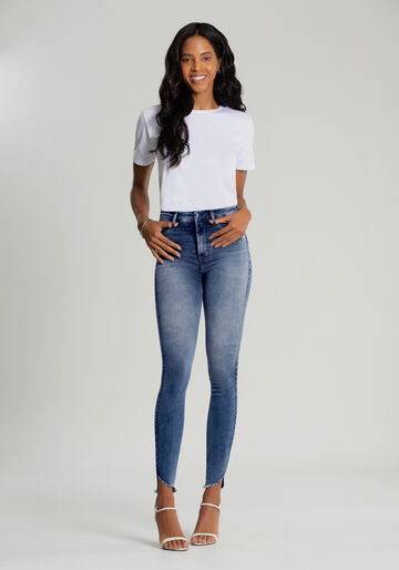 Calça Jeans Skinny Cropped Fit For Me, JEANS, large.