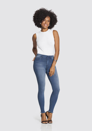 Calça Skinny Cropped Fit For Me, JEANS MEDIO, large.