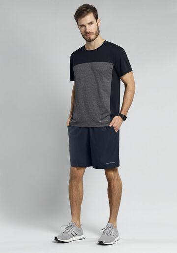 Camiseta Malha Poliamida, MESCLA ESCURO, large.