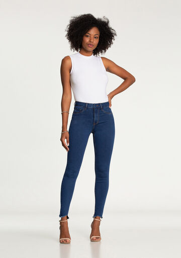 Calça Skinny Cropped Fit For Me, JEANS, large.