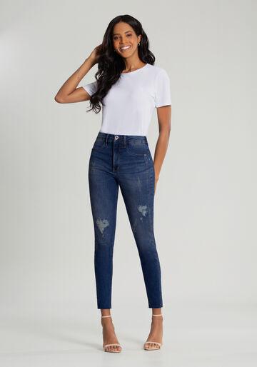 Calça Skinny Cropped Jeans Escultural, JEANS, large.