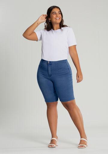 Bermuda Jeans Ciclista Fit For Me Plus Size, JEANS, large.