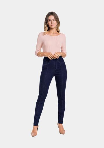 Calça Jeans com Elastano, JEANS ESCURO, large.