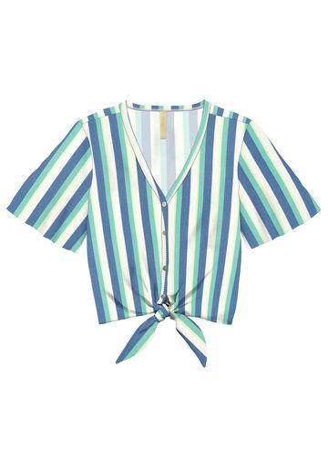 Camisa  em Tecido Rayon, AZUL OMEGA, large.