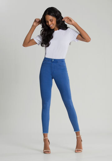 Calça Jeans Skinny Cropped Fit For Me Eco, JEANS, large.
